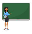 muslim or brazilian looking woman teacher standing vector image vector image