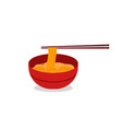noodles restaurant with red bowl ramen japanese vector image