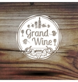 Old styled wine label for your business shop vector image vector image