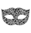 privacy mask mosaic of triangles vector image