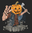 pumpkin zombie halloween killer artwork vector image