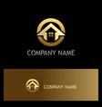round house arrow gold logo vector image vector image