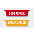sale offer tags special price label sale banners vector image