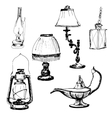 set lamps vector image
