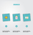 set of economy icons flat style symbols with vector image