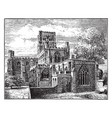 st albans abbey before modern restoration vector image vector image