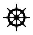 steering wheel silhouette isolated steering wheel vector image