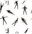stick figures pattern black monogram vector image