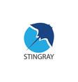 stingray logo flat design vector image vector image