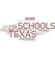 texas schools show some important gains on taks vector image vector image