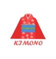Traditional Kimono Cartoon Style Icon vector image vector image