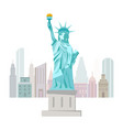 Welcome to new york poster with statue of liberty