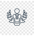 winner concept linear icon isolated on vector image vector image