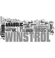 winstrol the registered trademark of sanofi vector image vector image