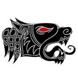 wolf head howl design for tribal tattoo vector image