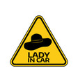woman car driver sticker female in automobile vector image vector image