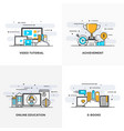 flat line designed concepts 6-colored vector image