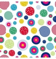 Polka dots kids seamless pattern with doodle vector image