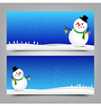 032 Merry Christmas banner Collection of greeting vector image vector image