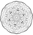 abstract mandala circular monochrome pattern vector image