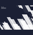 abstract of dark blue with white square stripe vector image
