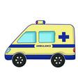 ambulance car icon cartoon style vector image vector image