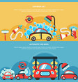 automatic car wash banners vector image vector image