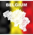 Belgian Abstract Map vector image vector image