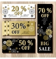 Big sale printable card template with golden vector image vector image