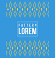 blue background pattern style collection vector image
