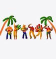 brazil carnival party character dance samba set vector image vector image