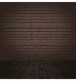 brick wall and wood floor vector image vector image