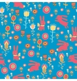 Bright cartoon pattern with animals vector image