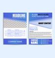 brochure design flyer template vector image vector image