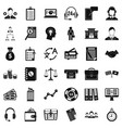 business search icons set simple style vector image vector image