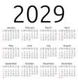 calendar 2029 sunday vector image vector image