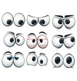 cartoon expression eyes with different views vector image vector image