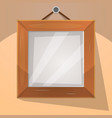 cartoon wood frame vector image vector image