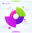 circle chart design template for creating vector image vector image