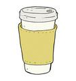 comic cartoon coffee cup vector image vector image
