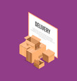 commercial delivery service isometric banner vector image vector image