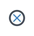 cross mark related glyph icon vector image