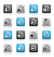Documents icons 2 Matte Series vector image vector image
