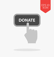 Donate concept icon Flat design gray color symbol vector image vector image