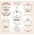 Elegant restaurant labels vector image vector image