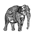 Elephant doodle vector image
