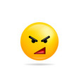 emoji smile icon symbol angry face yellow cartoon vector image vector image