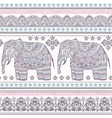 ethnic indian bohemian style elephant seamless vector image vector image