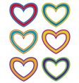 fabric hearts vector image vector image