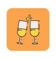 flat color cheers icon vector image vector image
